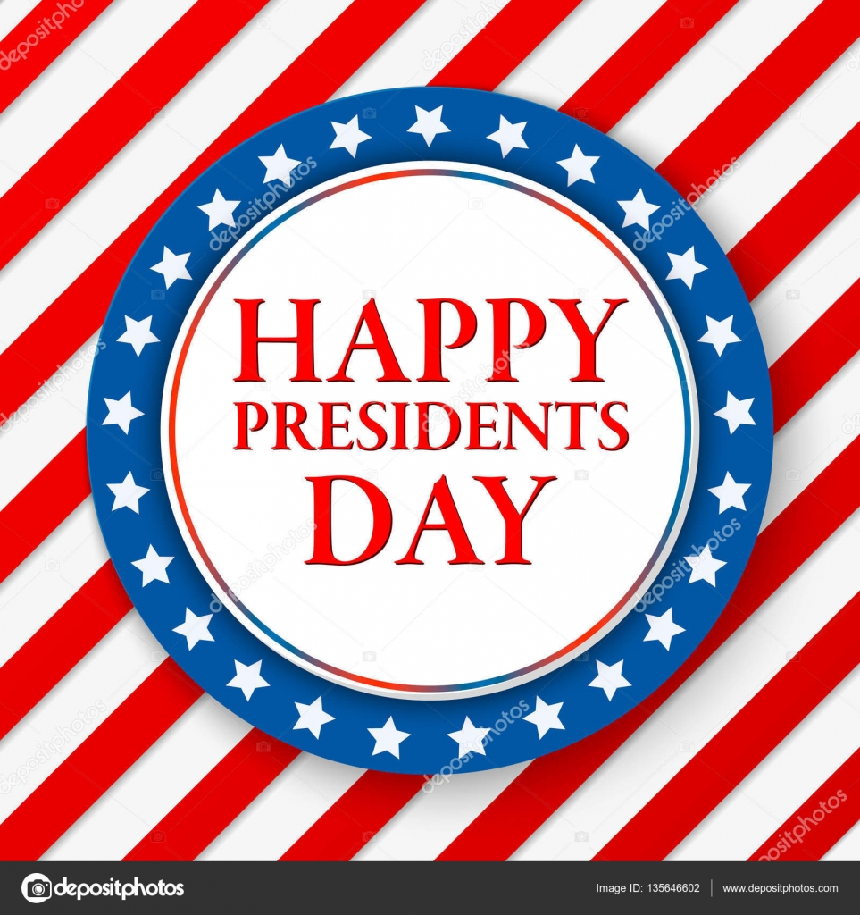 Presidents Day Vector Background Colors Of American Flag