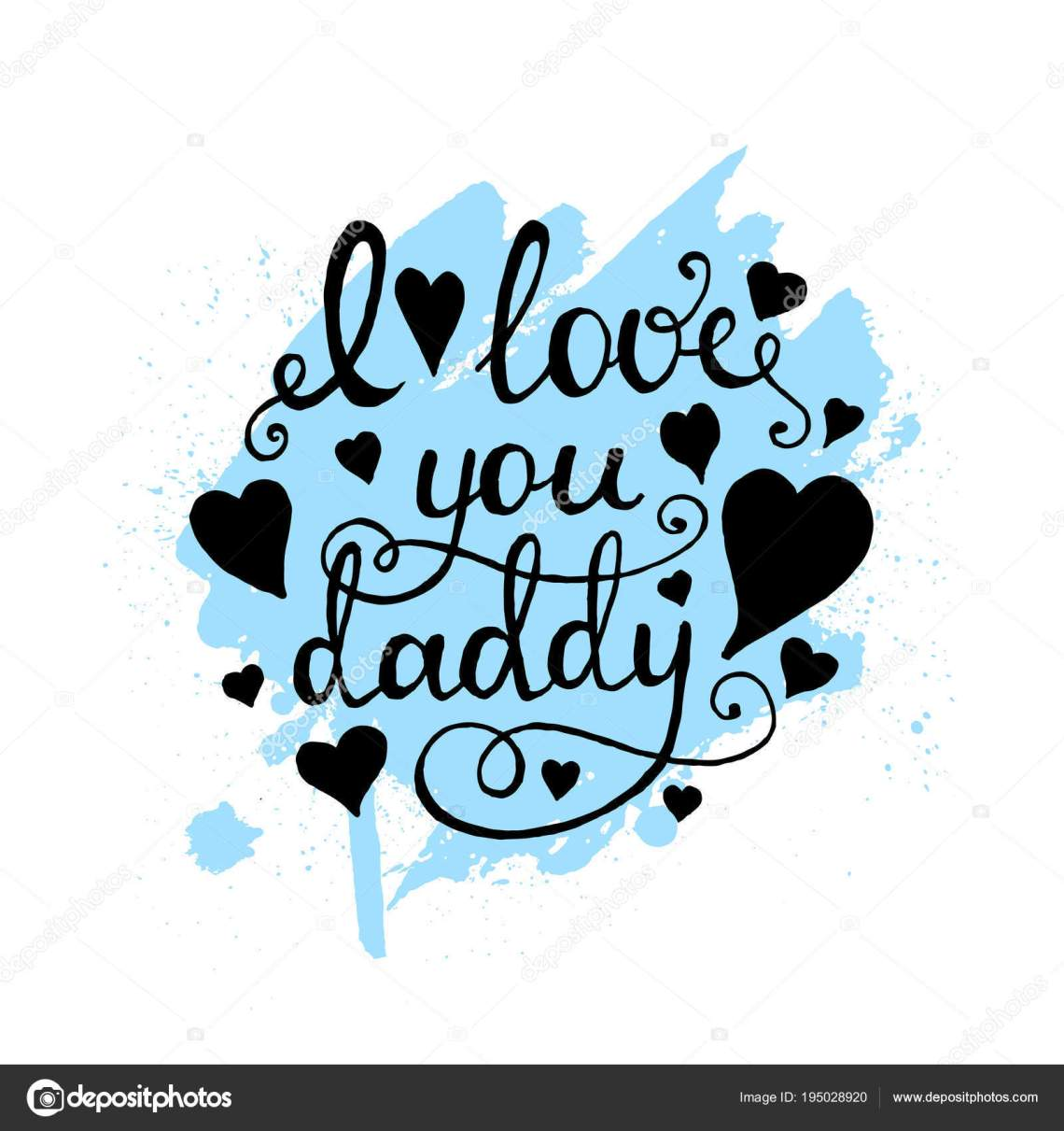 Download I love you daddy lettering, Calligraphy. — Stock Vector ...
