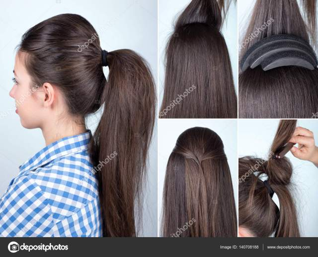 images: hair bump tutorial | hairstyle volume ponytail