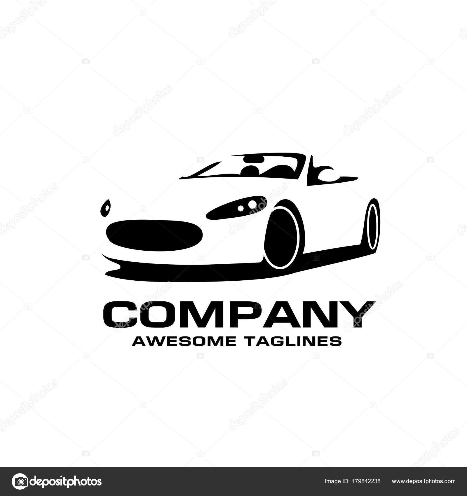 Vector Car Silhouette Logo Silhouette Sport Car Style