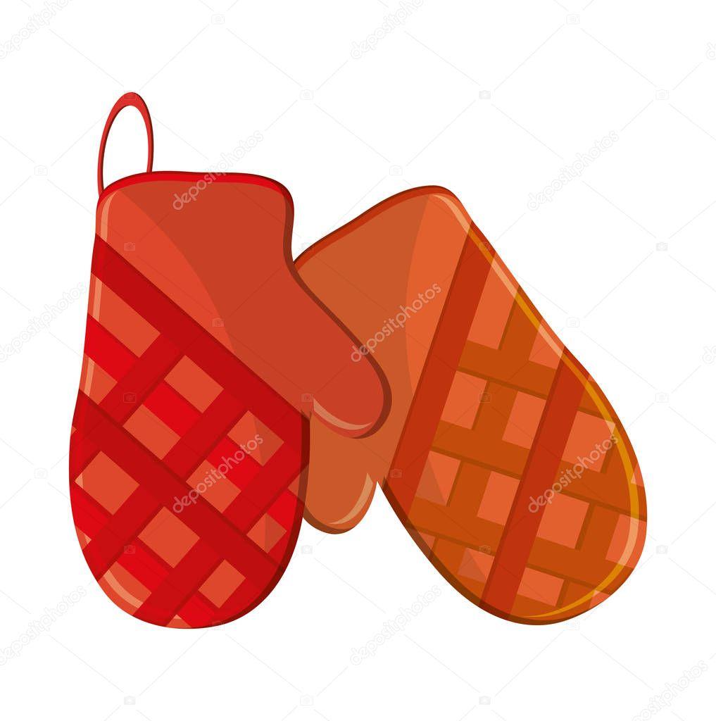 kitchen gloves red knife block set 独立的厨房手套设计 图库矢量图像 c jemastock 130288828 图库矢量图片