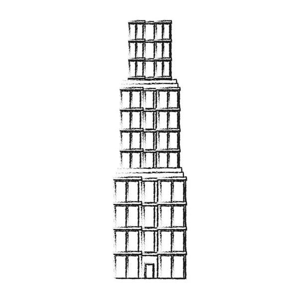 Colored illustration of Burj Khalifa — Stock Vector