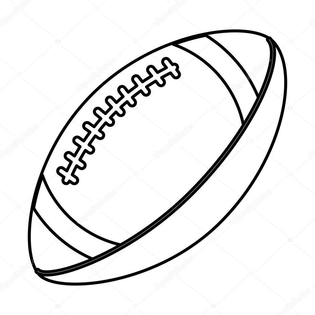 Ball American Football Sport Equipment Outline