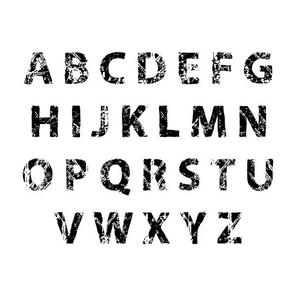 Nature decorative green font. Set of ABC nature letters