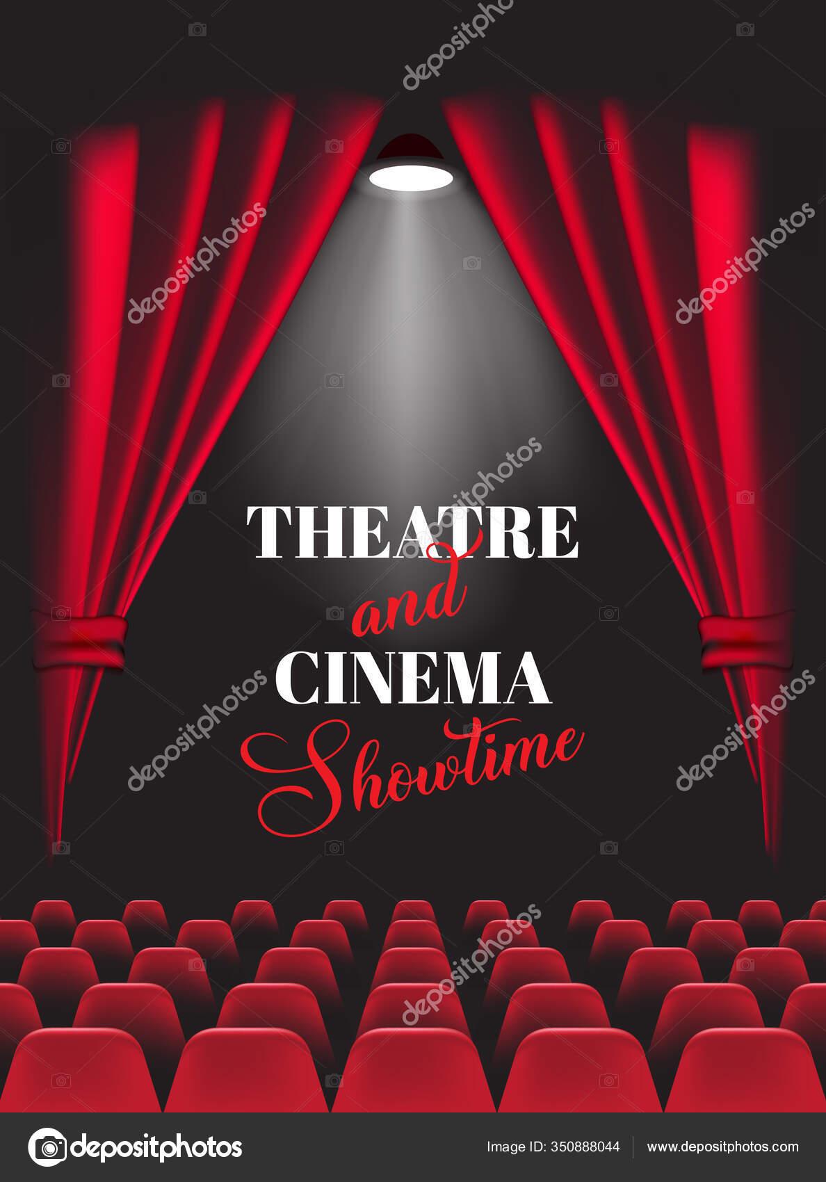 Latar Belakang Teater : latar, belakang, teater, Latar, Belakang, Dengan, Tirai, Teater, Merah, Ilustrasi, Vektor, Saliyeri, #350888044