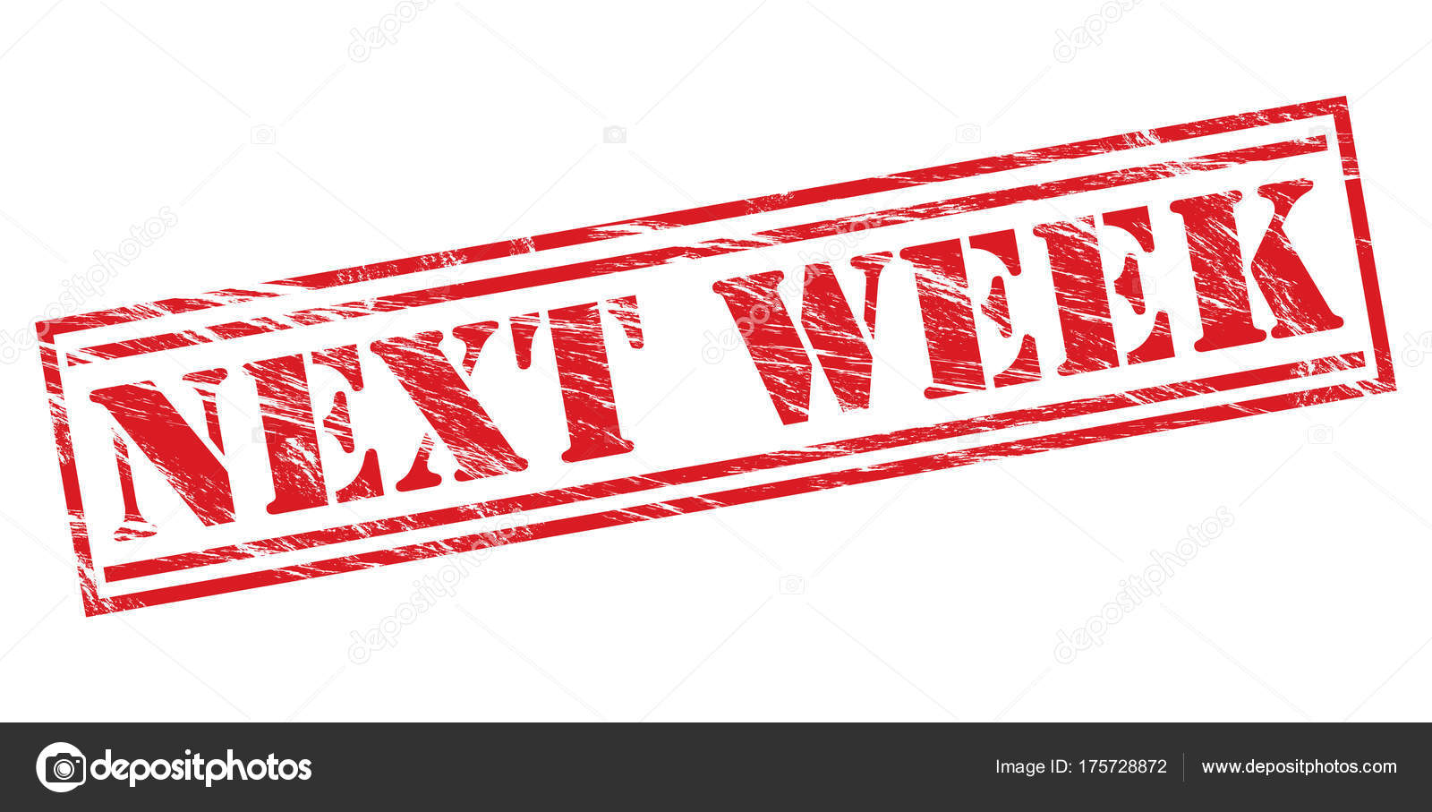 Next Week Red Stamp White Background — Stock Photo © CoNe88 #175728872