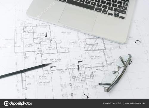 small resolution of black pencil and computer laptop on architectural drawing paper for construction photo by worldwide stock