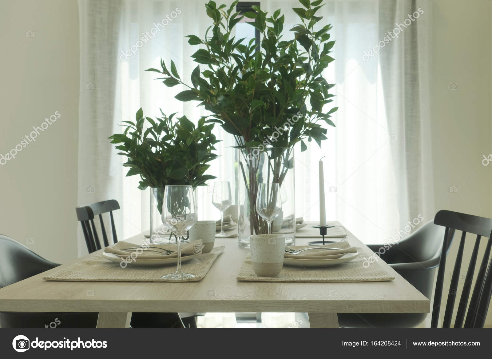 https depositphotos com 164208424 stock photo simply dining table with vase html