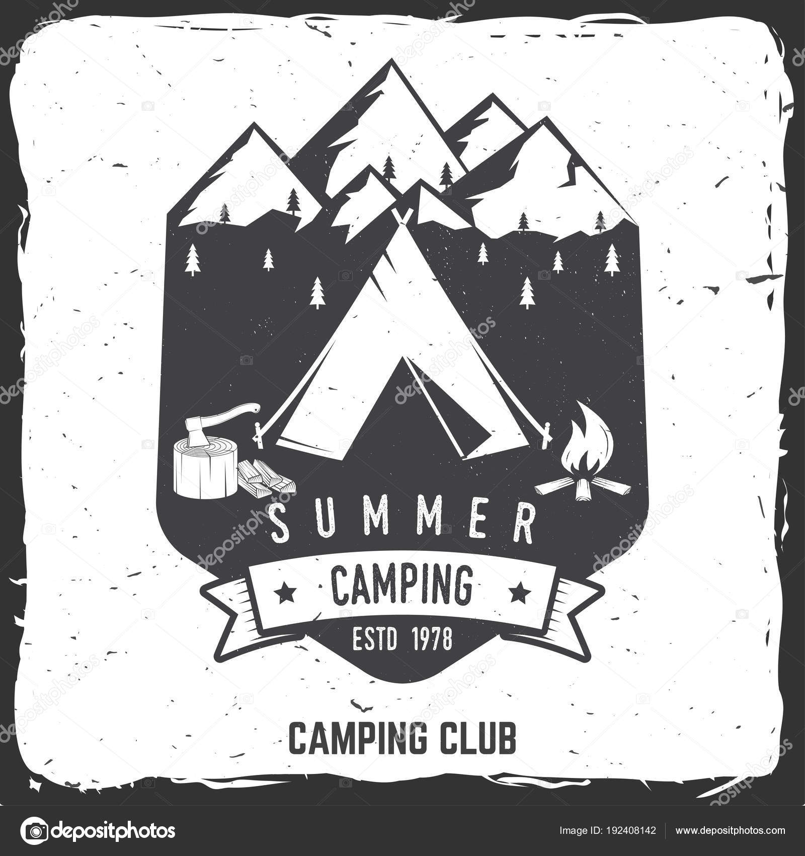 summer camping badge vector