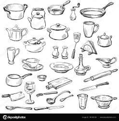 kitchenware sketches depositphotos