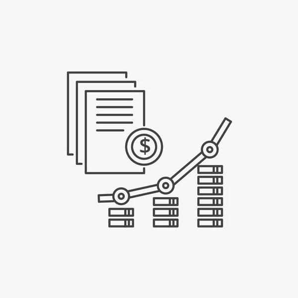 Rentabilidad Vector Icono Línea — Archivo Imágenes