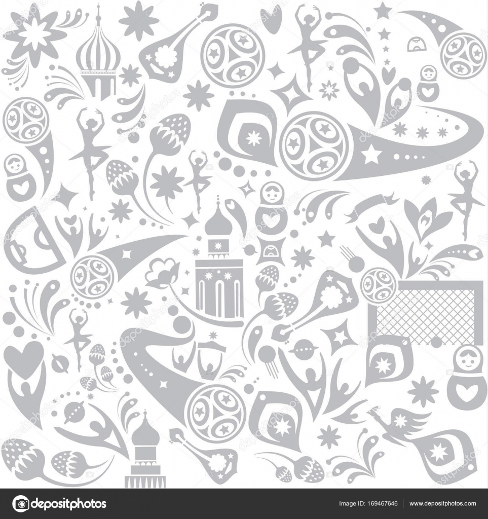 Seamless pattern 2018 FIFA World Cup Russia Soccer