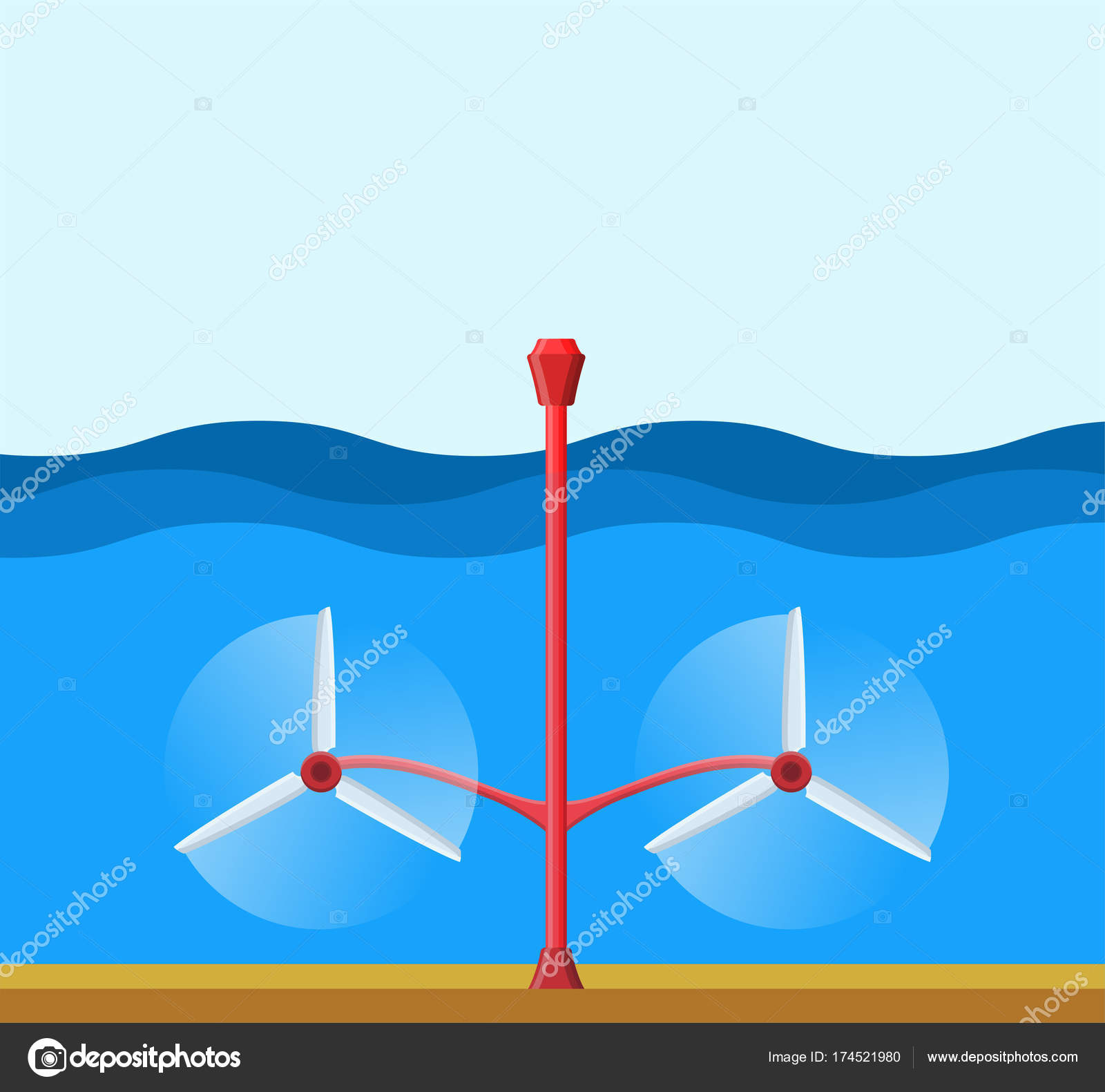 hight resolution of tidal power station clean renewable energy concept stock vector