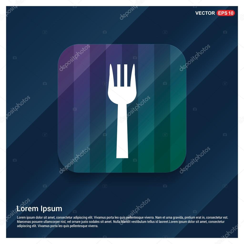 kitchen fork washable runners 厨房叉图标 图库矢量图像 c ibrandify 126374994 图库矢量图片
