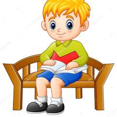 Little Boy Chairs Coleman Deck Chair With Folding Table Vector Illustration Sitting Reading Book