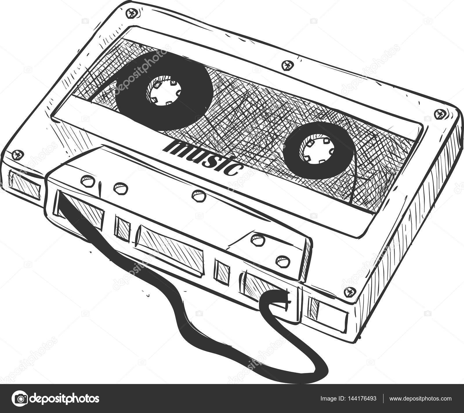 Vector Ilustracion Cassette Cinta Coleccion Aislados En Un