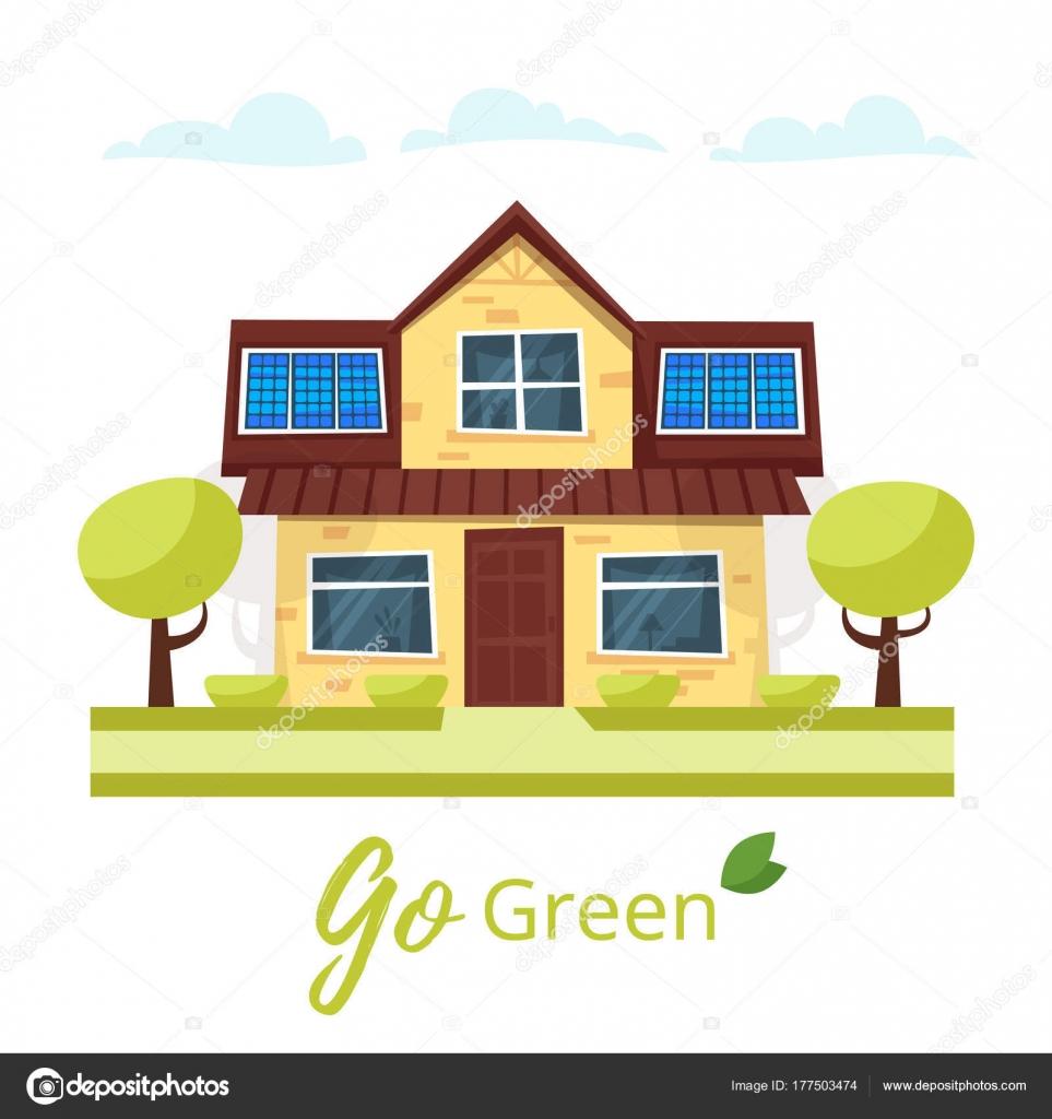 Casa ecologica con panel solar  Casa ecolgica con