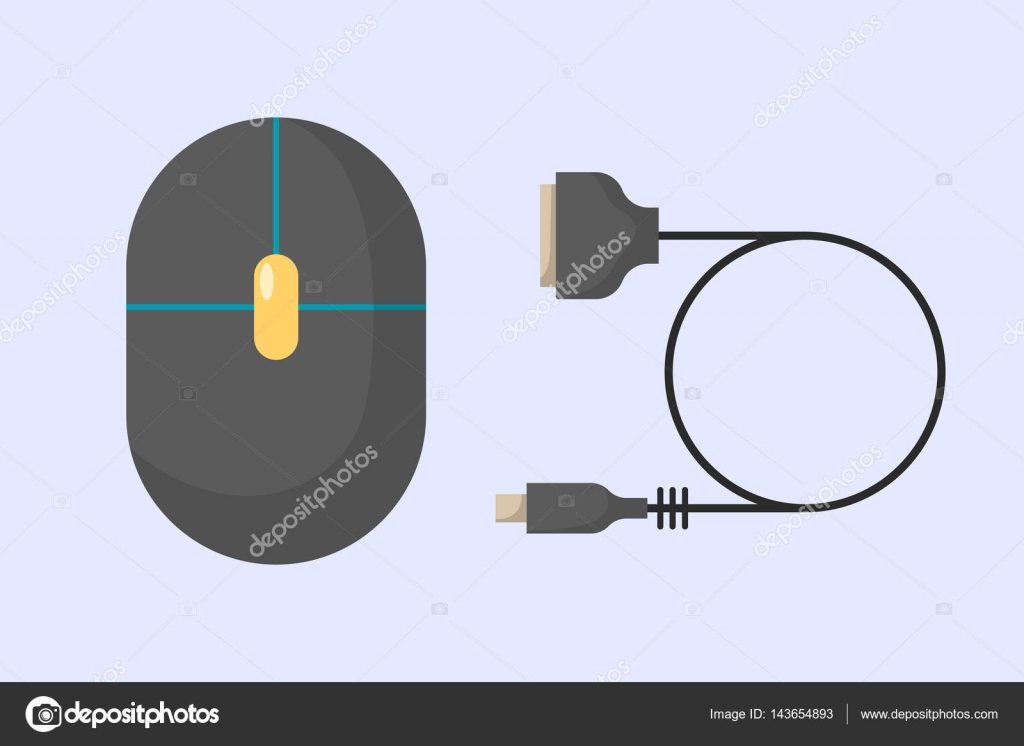 hight resolution of computer mouse icon flat computer design business technology modern instrument cursor work reflection and scrolling equipment vector illustration