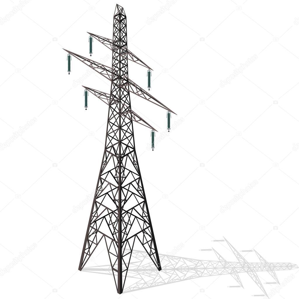 Torre Electrica 3d