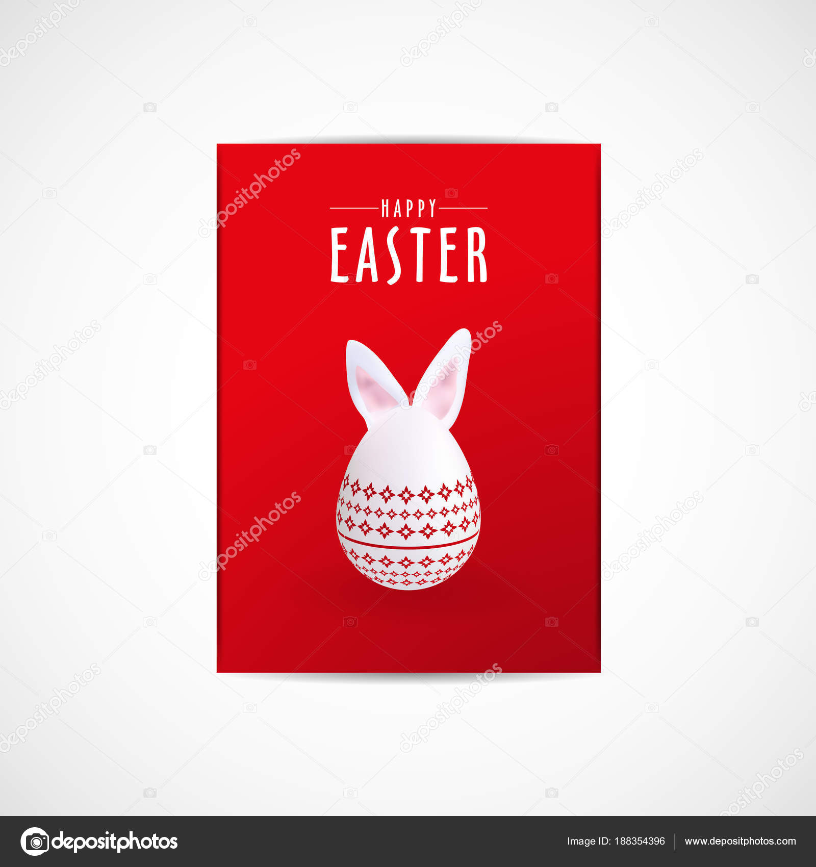 Happy Easter Day Flyer Template Vector Illustration Eps File — Stock Vector
