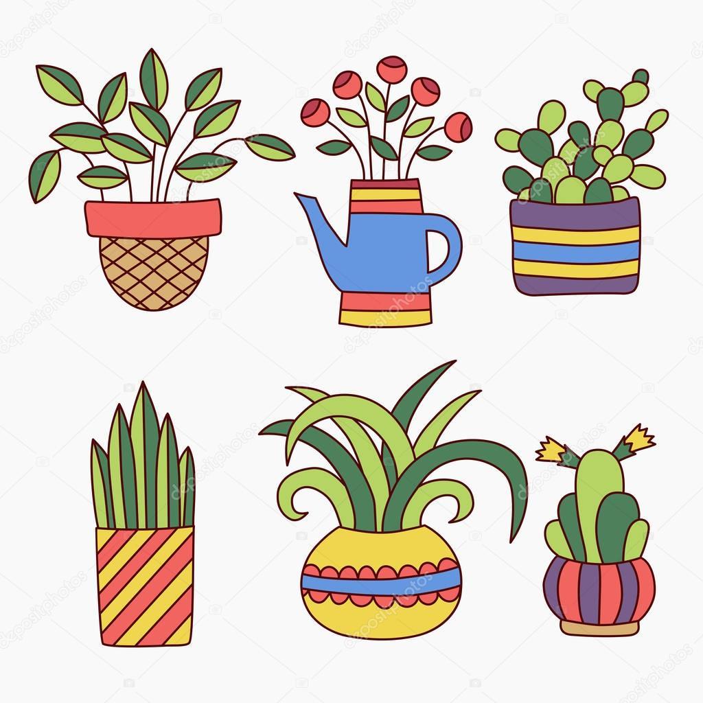Áˆ Plant Doodles Stock Vectors Royalty Free Plant Pot Doodle Illustrations Download On Depositphotos