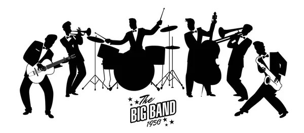 Orchestre de Jazz Swing. Style rétro. Illustration de