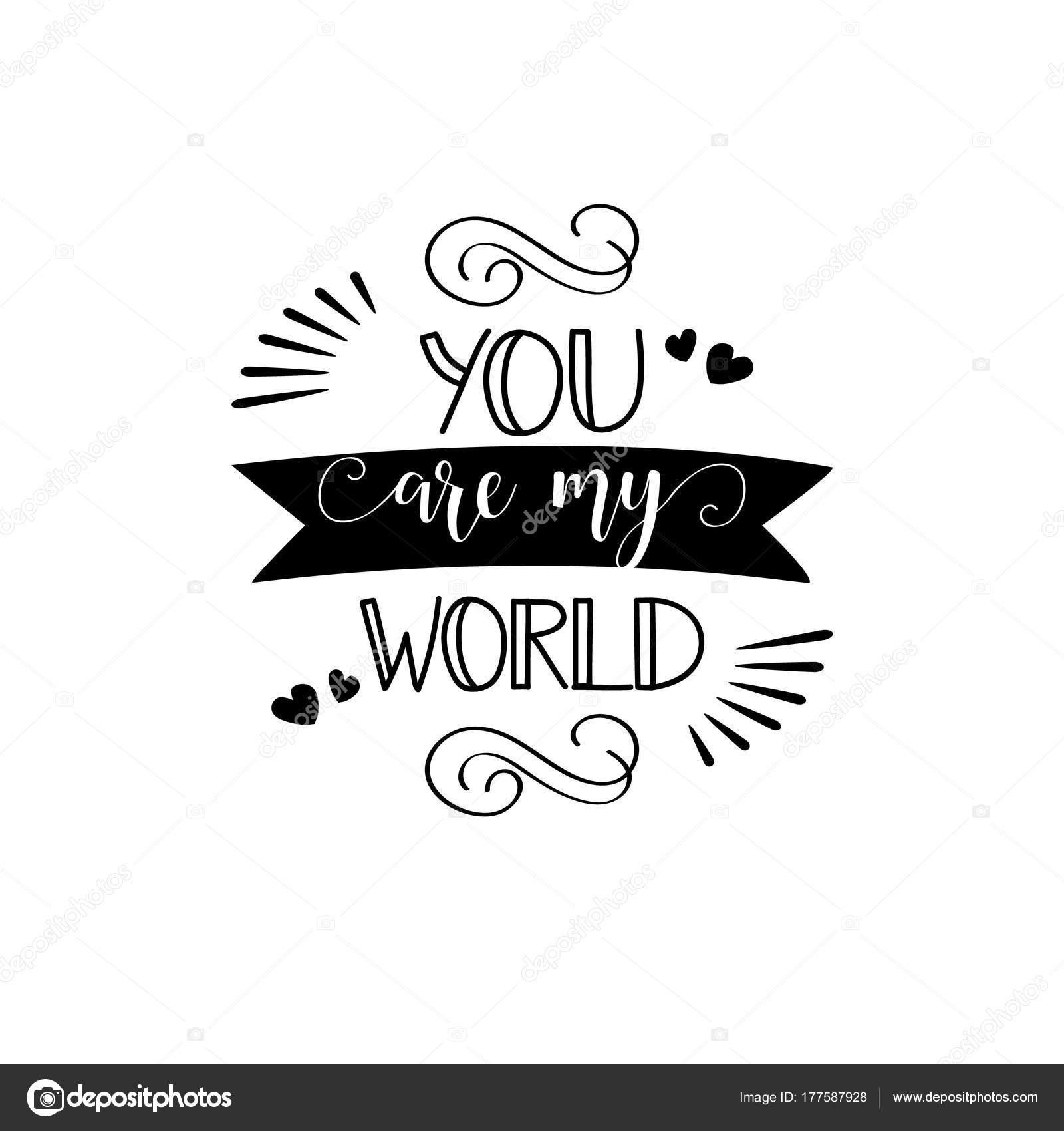 Eres Mundo Inscripción Citar Para Día San Valentín Tarjeta