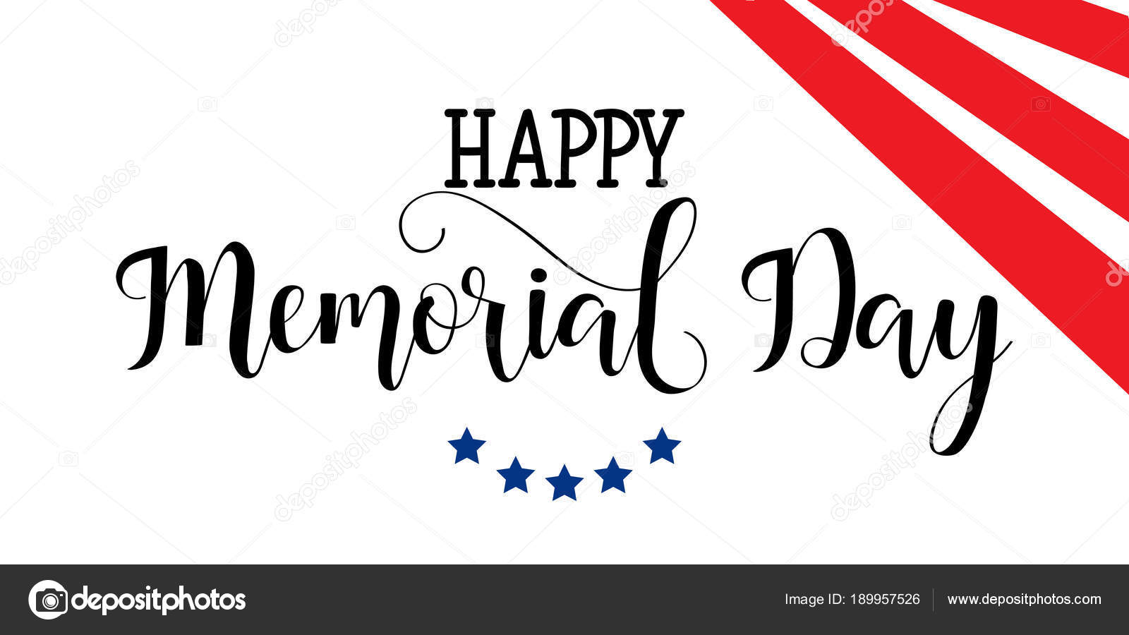 Happy Memorial Day Card National American Holiday Hand