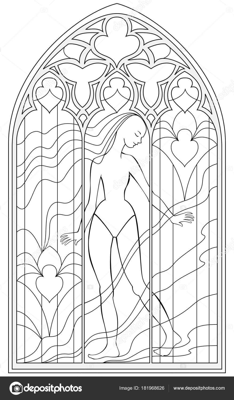 Malvorlage Gotisches Fenster Coloring and Malvorlagan