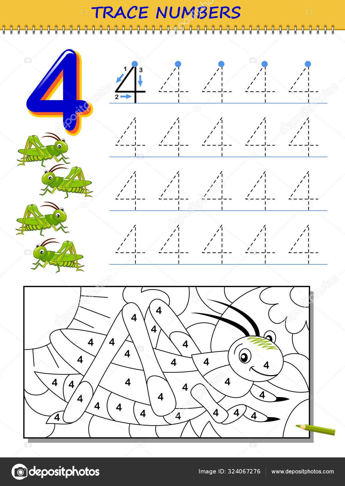 Educational Page Kids Number Printable Worksheet Children