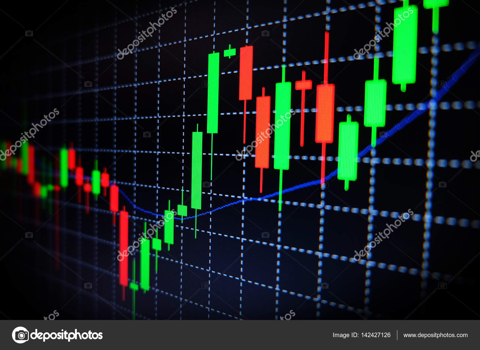 stock exchange green and
