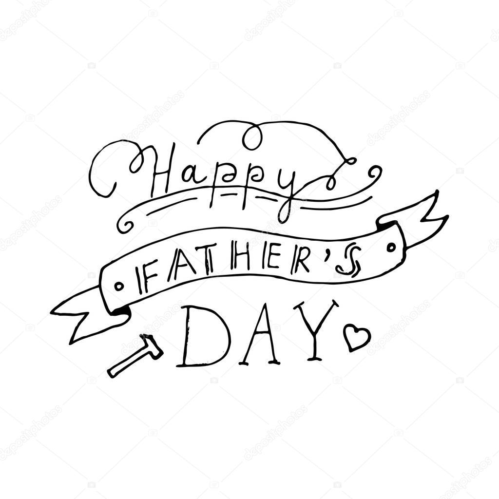 Happy fathers day lettering design — Stock Vector © redy