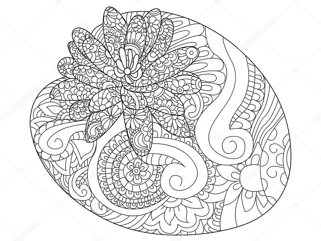 Fiore di Ninfea colorare raster per adulti — Vettoriali