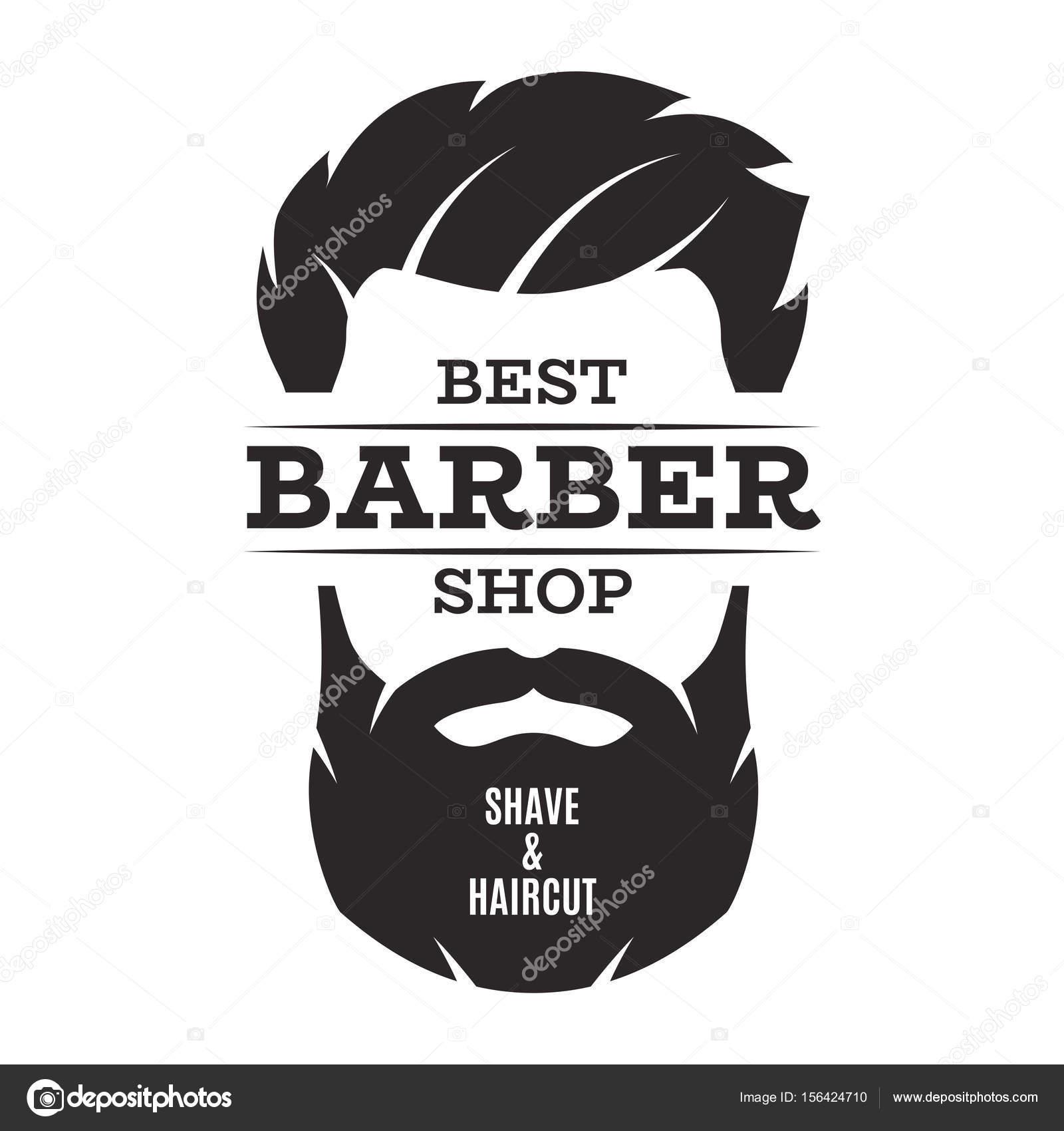 Barber shop isolated vintage label badge emblem. — Stock Vector ...