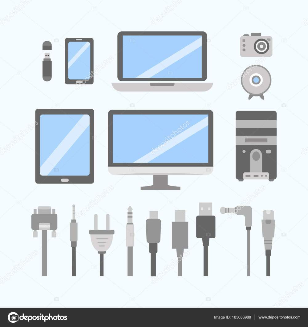 medium resolution of wiring diagram pc icon wiring diagram yer vector set of pc flat icons cable wire computer