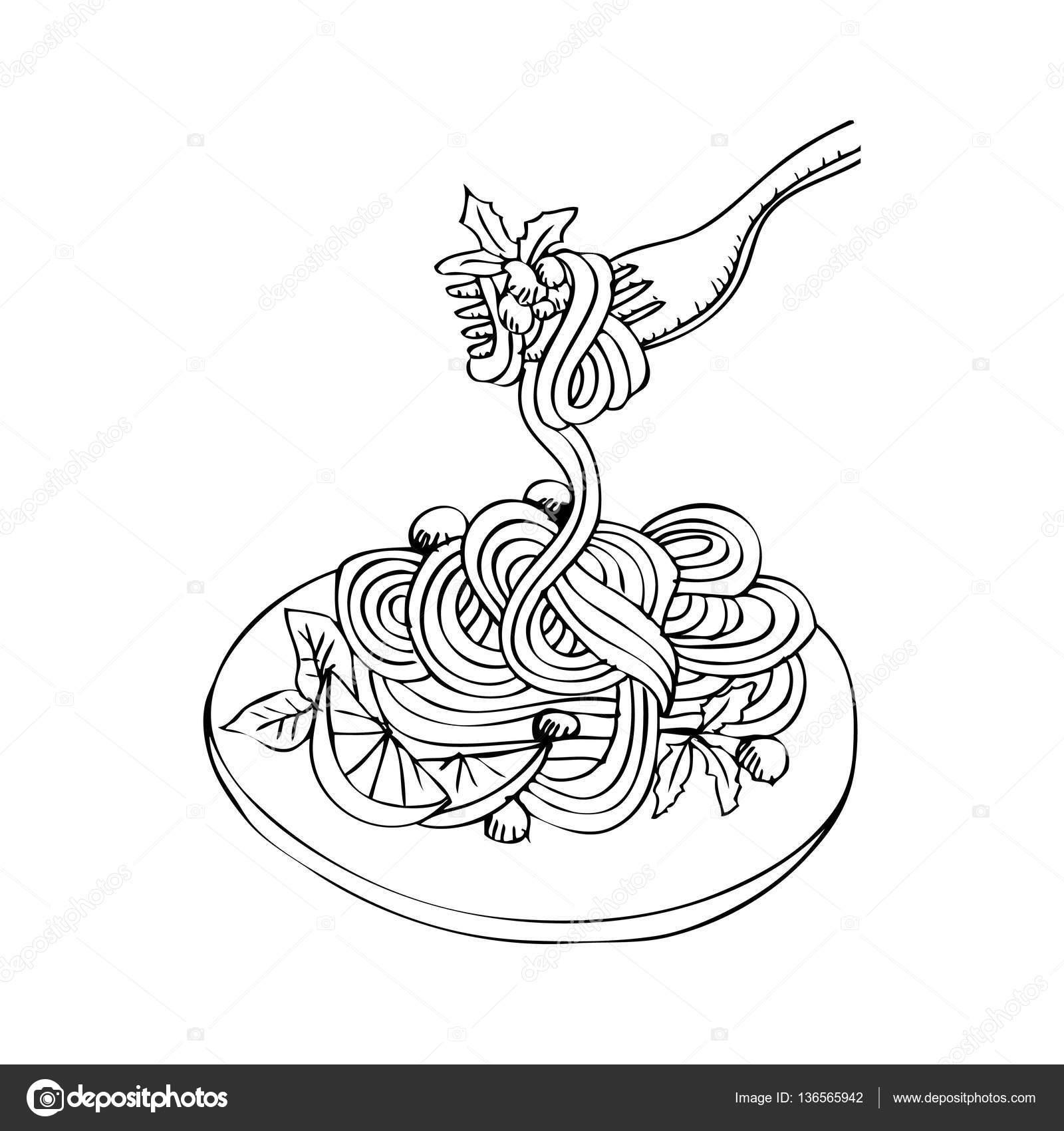 Spaghetti Doodle Hand Tekenen