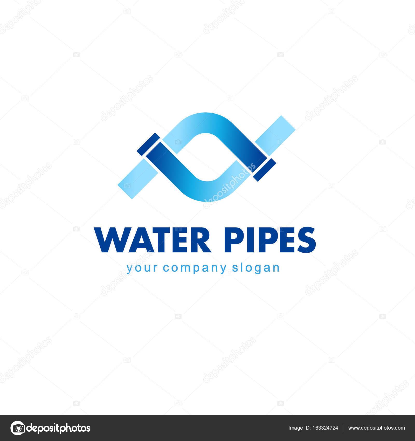 Vector Logo Design For Plumbing Company Water Pipes Sign Stock Vector C Kar Chik 163324724