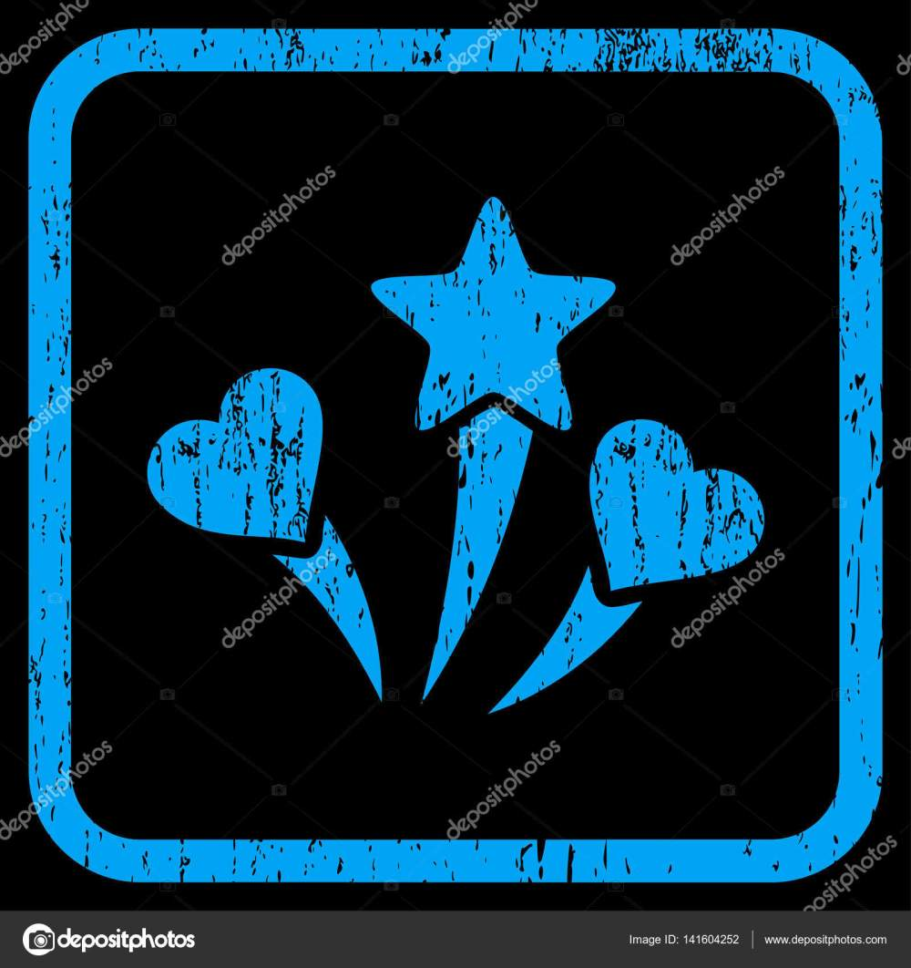 medium resolution of lovely fireworks rubber watermark vector icon symbol inside rounded rectangular frame with grunge design and dirty texture stamp seal illustration