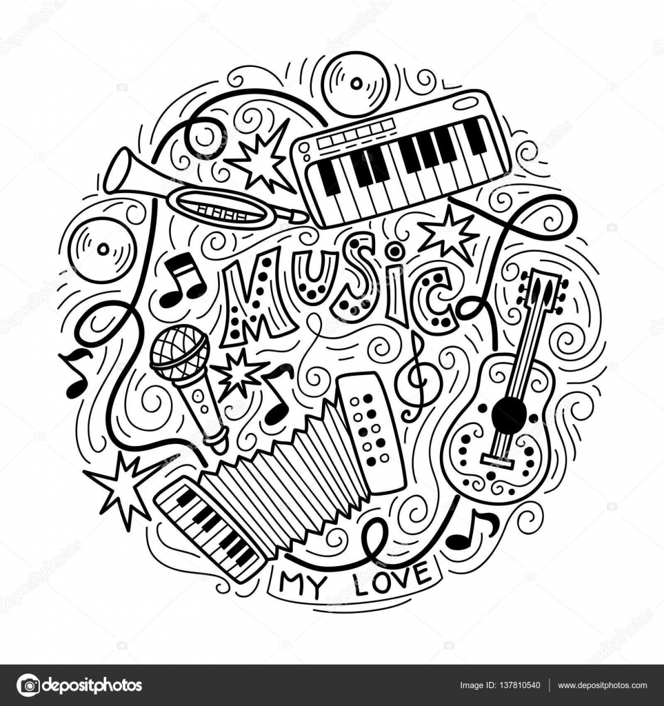 Abstract Music Background ,Collage with musical