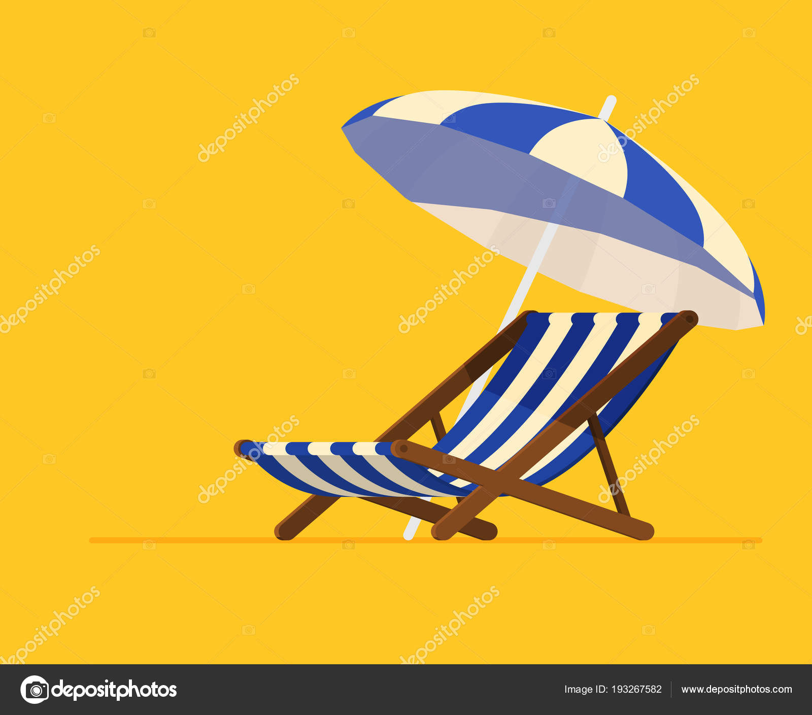 air travel beach chairs ergonomic chair accessories vacation and concept umbrella stock vector by igordeyka