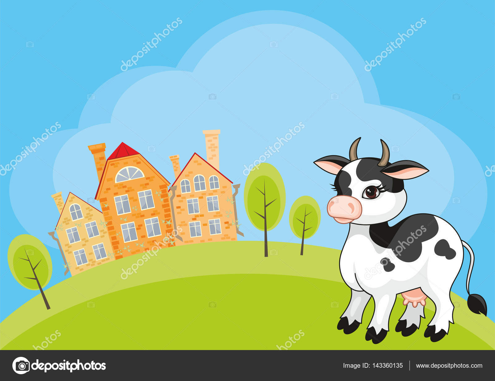 funny cow background stock