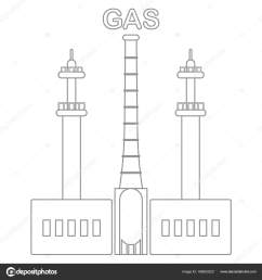 gas processing plant industrial theme stock vector [ 1600 x 1700 Pixel ]