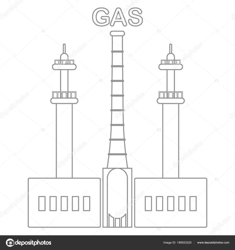 medium resolution of gas processing plant industrial theme stock vector