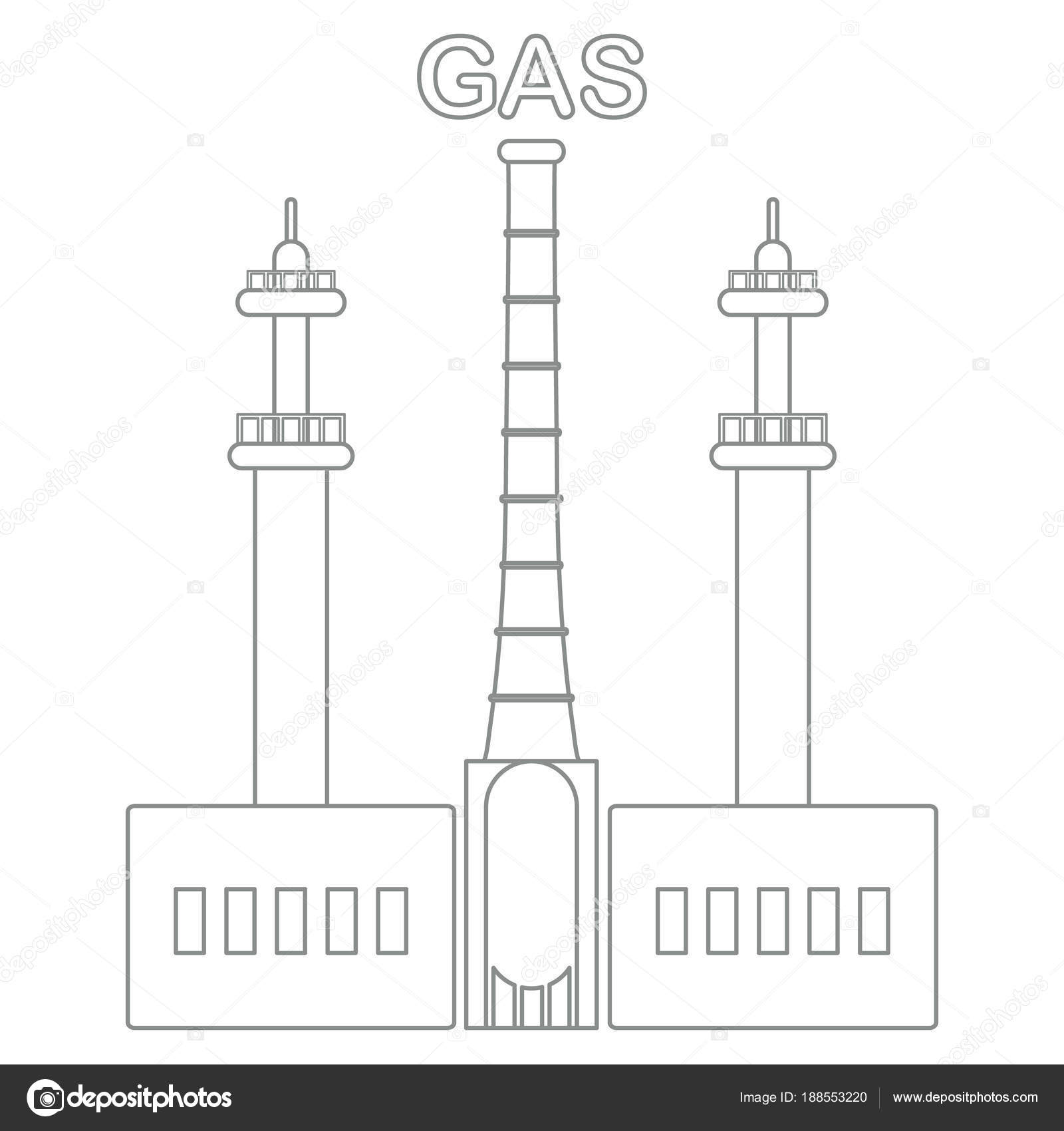 hight resolution of gas processing plant industrial theme stock vector