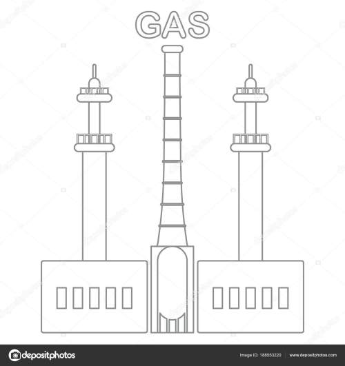 small resolution of gas processing plant industrial theme stock vector