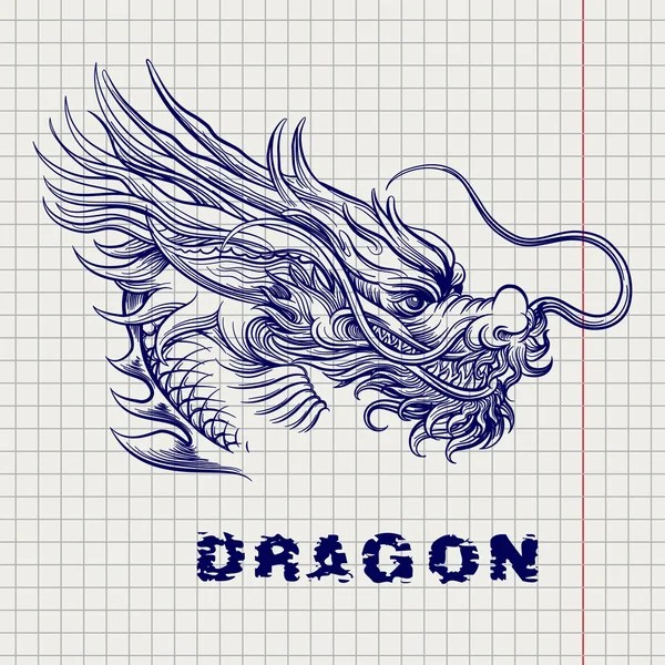 Áˆ Dragon Face Stock Drawings Royalty Free Dragon Face Outline Vectors Download On Depositphotos