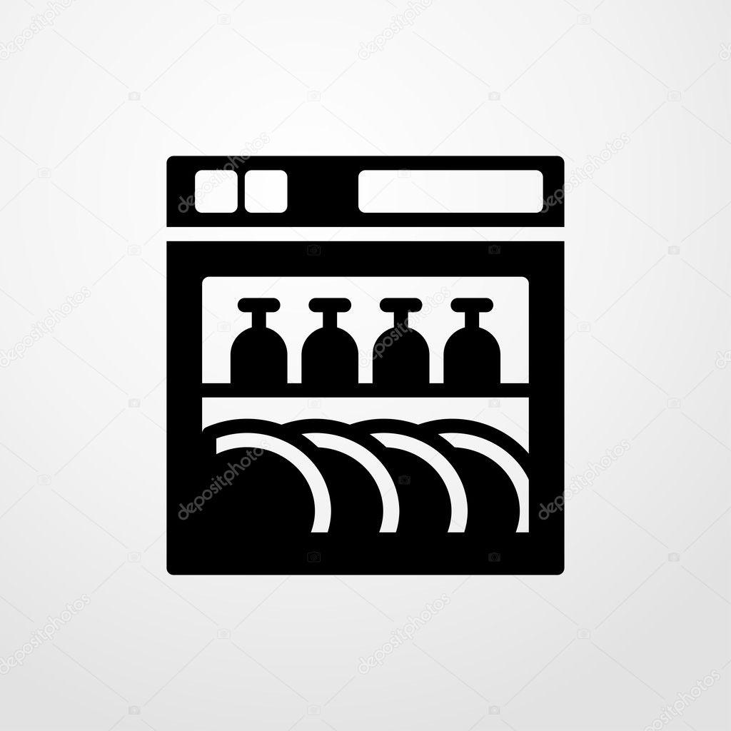 dishwasher icon flat design