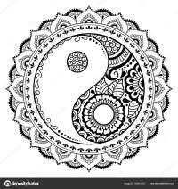 Patrn Circular Forma Mandala Smbolo Decorativo Del Yin ...