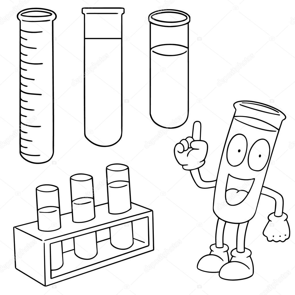 Vector set of test tube — Stock Vector