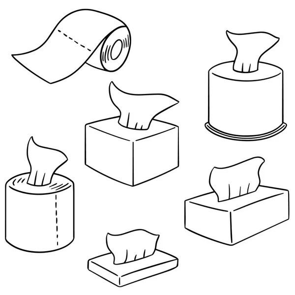 vector set of tissue paper cartoon — Stock Vector